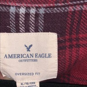 American Eagle Outfitters Tops - American Eagle Oversized Red Flannel
